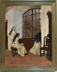 betende dominikanerinnen im nonnenchor by eugen von renazzi