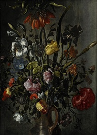 blomsterstilleben by jacob woutersz vosmaer