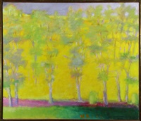 trees in spring (#24-1993) by wolf kahn