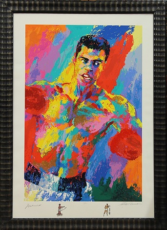 muhammad ali athlete of the century by leroy neiman