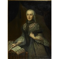 portrait of lady with a book by gabriel spitzel