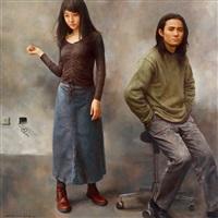 画家与模特的肖像 (the painter and his model) by yuan zhengyang