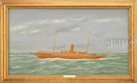 portrait of the steam yacht wakiva by thomas h. willis