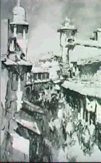 bombay market scene by walter langhammer