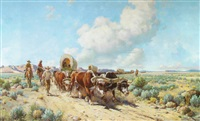 wagon train by gray phineas bartlett