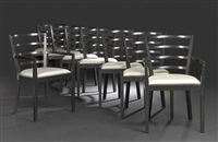 dining chairs (set of 8) by raul de armas