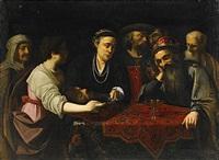 salome med johannes döparens huvud inför herodes by lionello spada