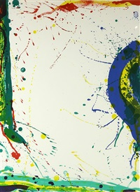 untitled (from michael waldberg: poèmes dans le ciel) by sam francis