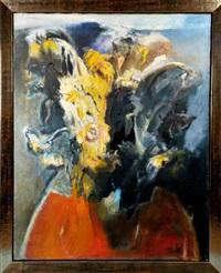 abstrakte komposition mit sonnenblumen by jan rericha
