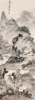 山居图 (landscape) by chen shuaizu
