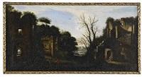 landskap med antika ruiner (pair) by filippo d' angeli