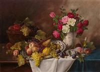 früchte- und rosenstilleben by alois zabehlicky