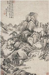 烟浮远岫图 (landscape) by tang dai