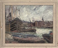 on the docks, london by george hann
