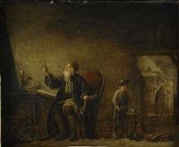 interiör med alkemist by marc antoine bilcoq