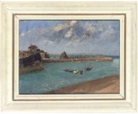 the outer harbour, mevagissey, cornwall (+ 2 others, smllr; 3 works) by piero sansalvadore