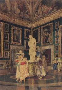 ansicht der tribüne in der galleria palatina by giovanni battista filosa
