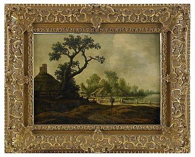 landskap med figurer by pieter jansz van asch