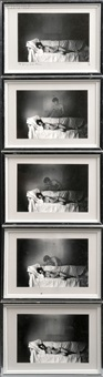 the young girl's dream (in five parts) by duane michals