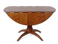 drop-leaf pedestal table by sam maloof
