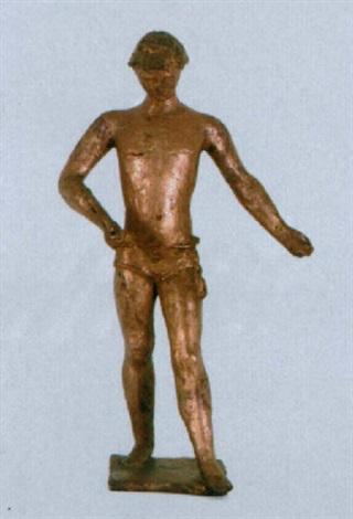 david mit der schleuder in der hand by gustave piguet