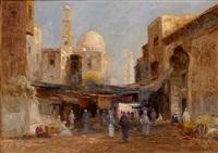 blick in die altstadt von kairo by r. weber