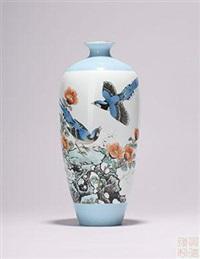 《春光好》花鸟图赏瓶 by dai ronghua