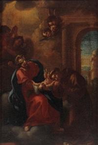 madonna mit dem christuskind und dem heiligen franziskus by anonymous-italian (18)