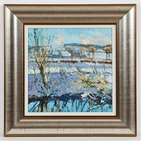 winter on the river avon by douglas lennox