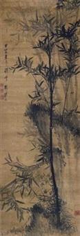 竹石蕉荫 by tu qingge