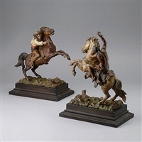 equestrian figures by franz bergman