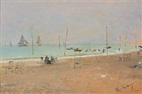 una playa by raimundo de madrazo y garreta