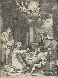 the adoration of the shepherds by hendrik goltzius