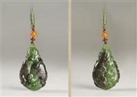 lotus pendant by jiang hongli