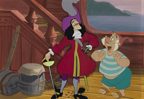 Captain Hook And Smee Aboard Their Ship From Peter Pan By Walt Disney Studios