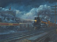 steam train passing in the night by tony fachet