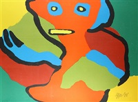 colorful figure by karel appel