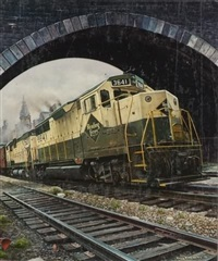 reading lines diesel through underpass by tony fachet