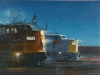 working partners, illinois central at night by tony fachet