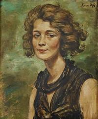 kvinnoporträtt by roman kramsztyk