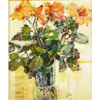 sommeil rose; bouquet des fleurs (2 works) by louis fabien