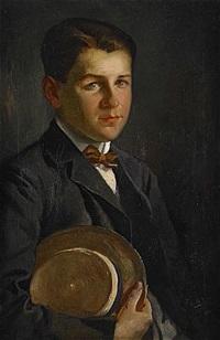 porträtt föreställande gosse med hatt by fabian de la rosa