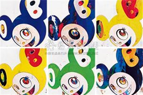 (六件一组) and then and then and then and then 6 works by takashi murakami