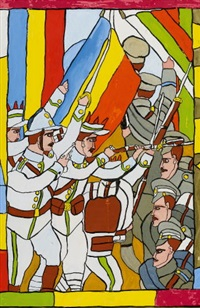 ohne titel (kämpfende soldaten) by josef wittlich