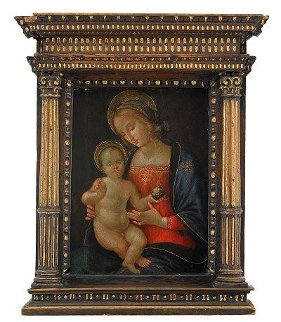 madonnan och barnet by antonio massari da viterbo