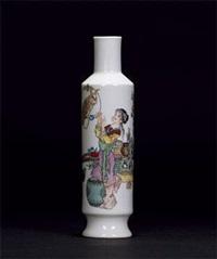 《春意》图赏瓶 by ren xiping