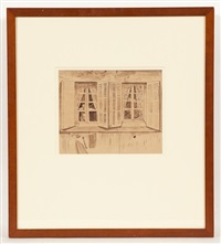 house front, marseilles, 1938 by robert colquhoun