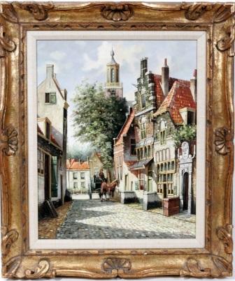 amsterdam street scene by pieter cornelis steenhouwer