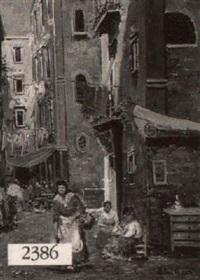 italian street scene by e. jackson