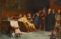 hans madsen forhøres af landsknægte by hans peter lindeburg